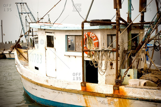 Old fishing boat in the Gulf of Mexico