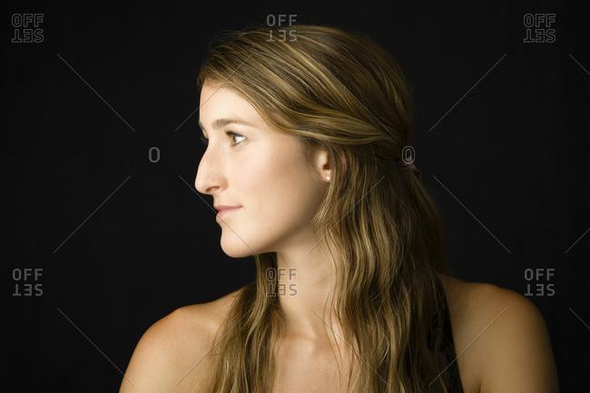 Profile of Caucasian woman - Offset