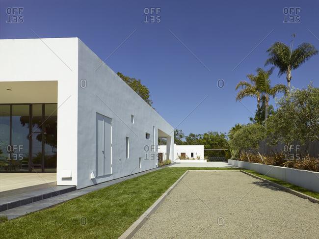 Contemporary residential building in Vista, California, USA. Exterior view