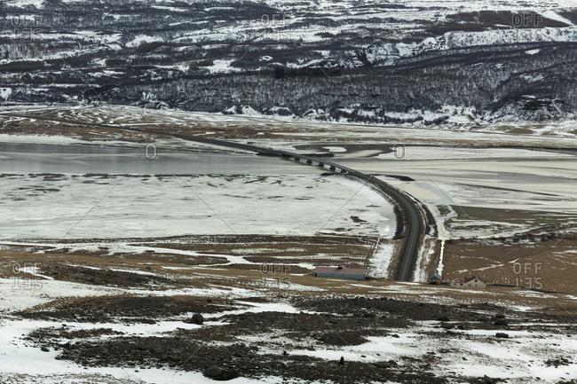 Hengifoss, Iceland in winter