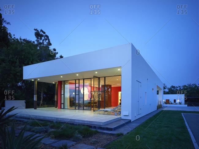 California, USA - November 3, 2016: Contemporary residential building in Vista, California, USA