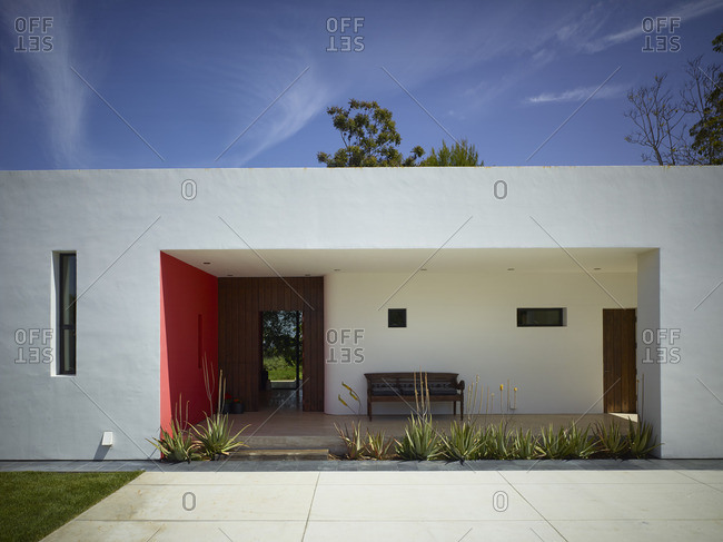 California, USA - November 3, 2016: Contemporary residential building in Vista, California, USA