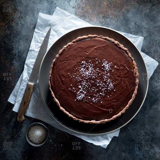 Salted Caramel Chocolate Tart