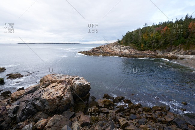 Rocky shoreline, Acadia National Park, Maine