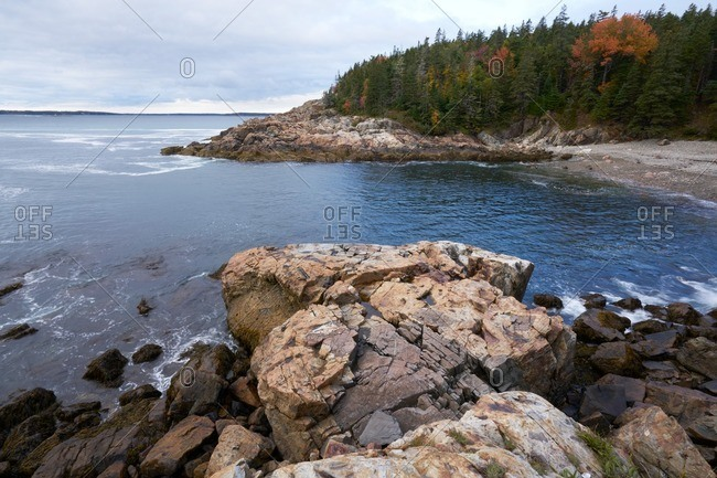 Rocky coastline, Acadia National Park, Maine
