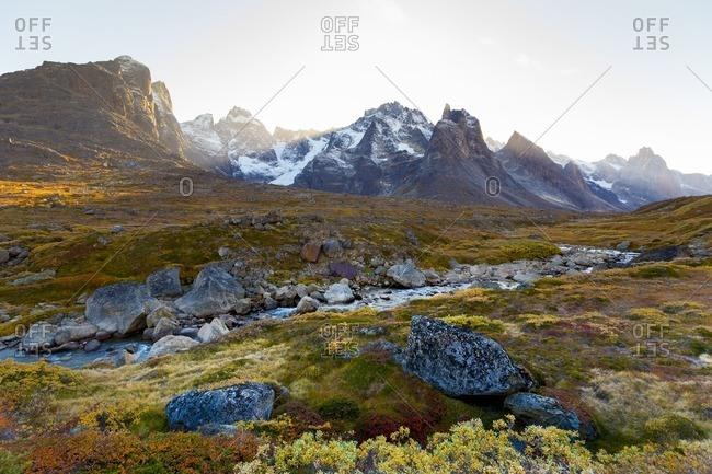 Vast mountain landscape in Greenland