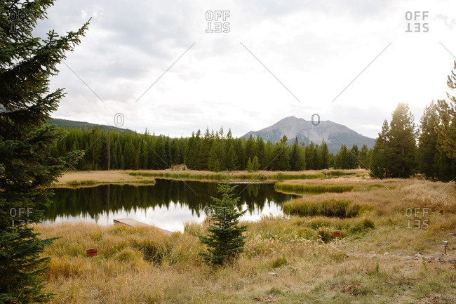 Landscape in Big Sky, Montana