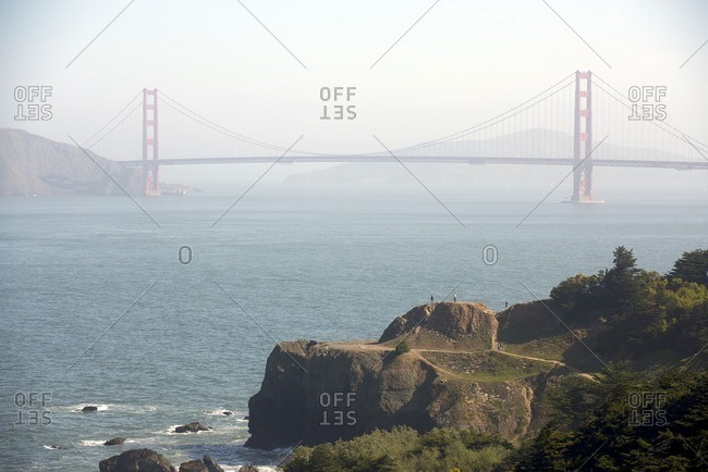 View of Golden Gate Bridge from Golden Gate National Recreation Area