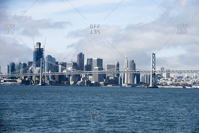 Oakland Bay Bridge and San Francisco skyline