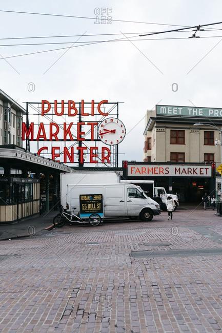 Seattle, Washington - October 18, 2016: Pike Place Market