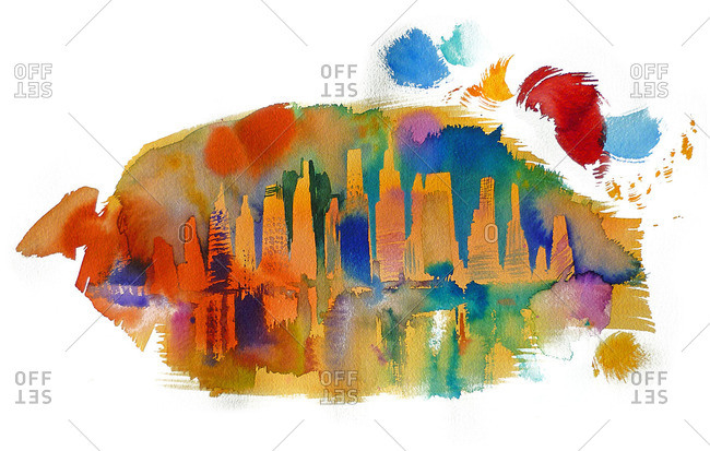 A splash of colors on the NYC Skyline