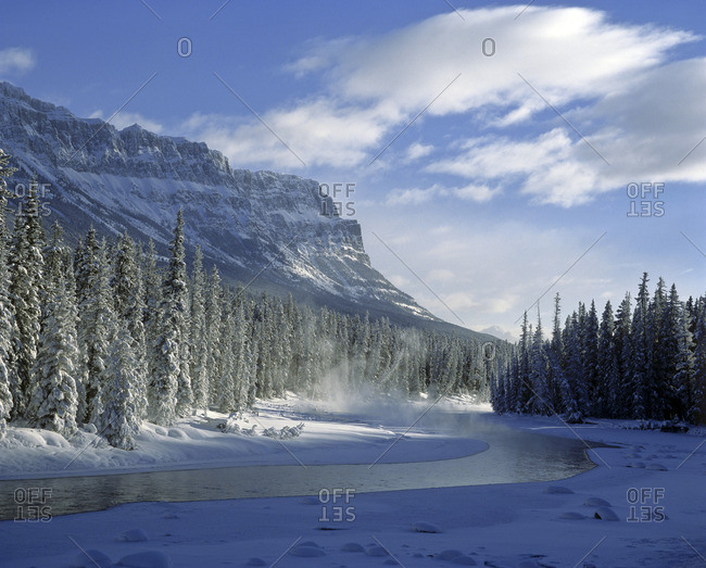 Bow Valley River, Banff National Park, Alberta, Canada