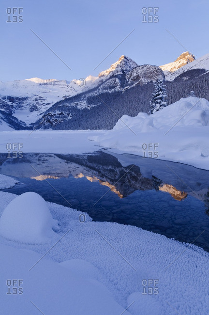 Winter, Lake Louise, Banff National Park, Alberta, Canada