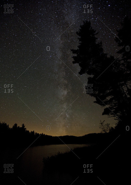 Milky way in the skies above Algonquin Park, Ontario, Canada.