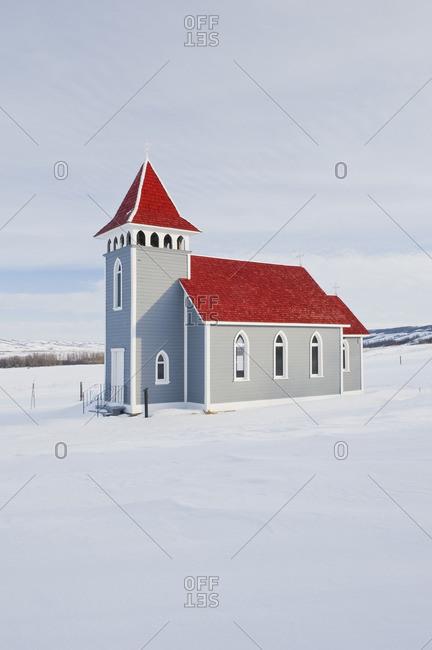 St. Nicholas Church in the Qu\'Appelle Valley, Saskatchewan, Canada