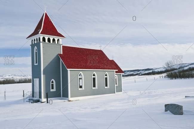 St. Nicholas Church in the Qu\'Appelle Valley, Saskatchewan, Canada