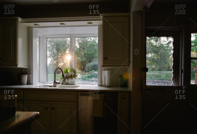 Morning light coming in the kitchen window