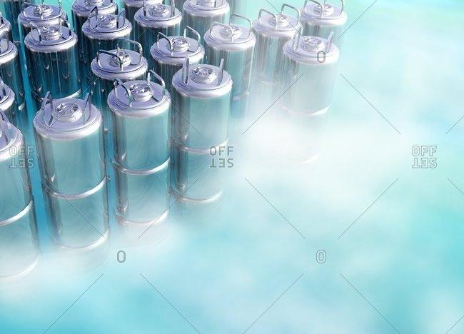 Cryogenic storage, computer artwork
