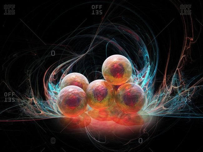 Stem cell research, conceptual computer artwork