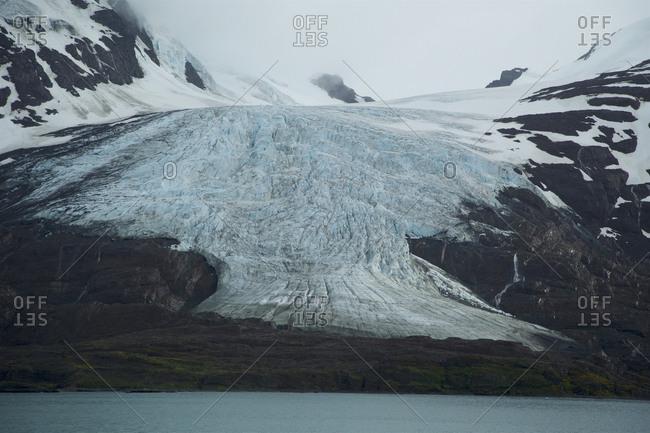 King Haakonn Bay at South Georgia, a sub-Antarctic island in the Southern Ocean.