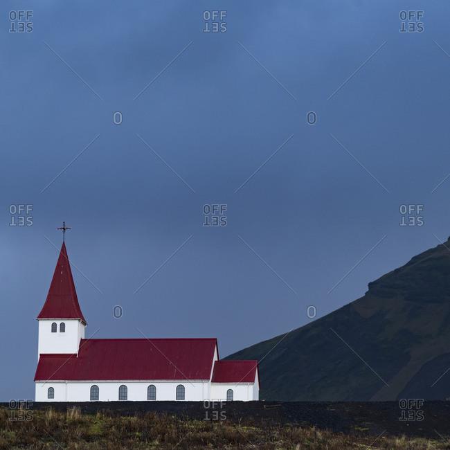 The Vik i Myrdal church in Vik, Iceland.