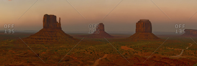 Buttes at Monument Valley Tribal Park.