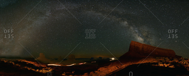 Milky Way above Monument Valley.