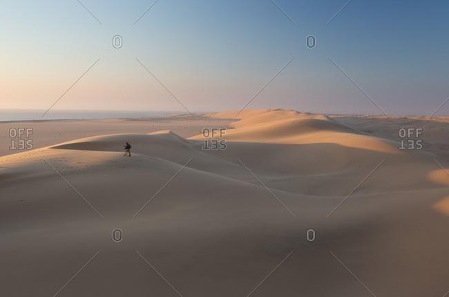 Sand dunes near Swakopmund in Namibia.