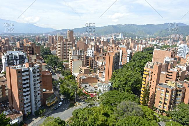 Cityscape of Medellin, Colombia.