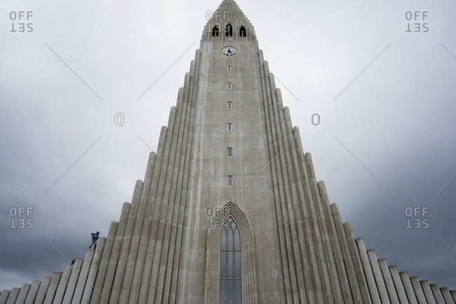The Hallgrimskirkja Church in Reykjavik, Iceland.