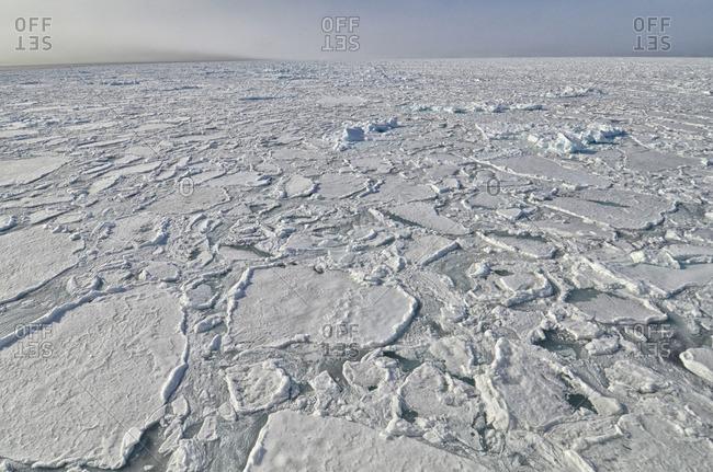 Ice edge off the Svalbard Archipelago.