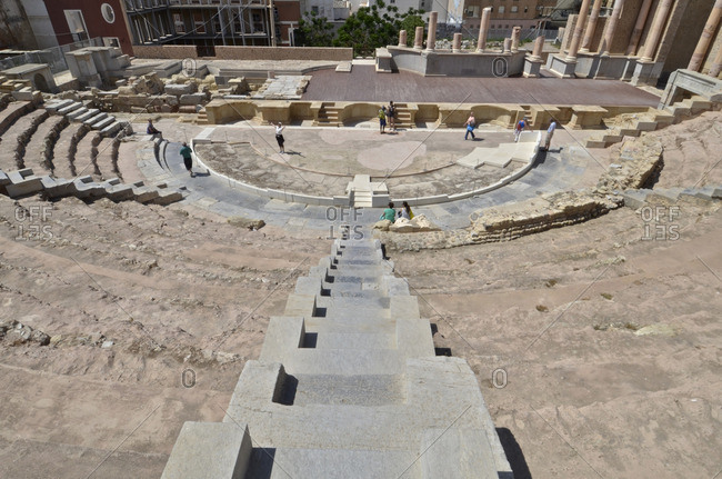 Roman theatre of Carthage in Cartagena, Spain.