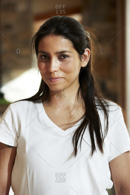 Hispanic woman smiling - Offset Collection