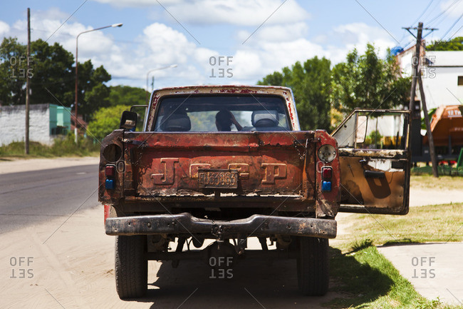 Corrientes, Argentina - February 24, 2015: Old truck stopped on the side of the street in Corrientes, Argentina