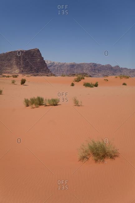 Wadi Rum desert landscape in Jordan