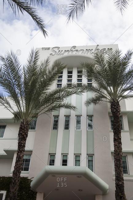 Miami Beach, Florida - December 2, 2012: The Surfcomber Hotel in Miami Beach, Florida