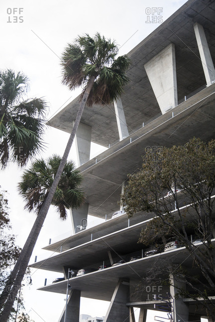 Miami Beach, Florida - December 3, 2012: Parking garage in Miami Beach