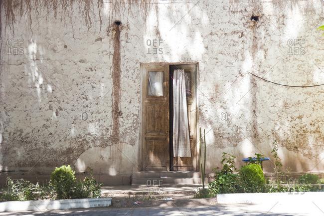 Old building with open door in San Juan, Puerto Rico
