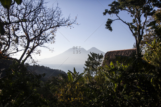 View of Lake Atitlan from the Yoga Forest in Guatemala