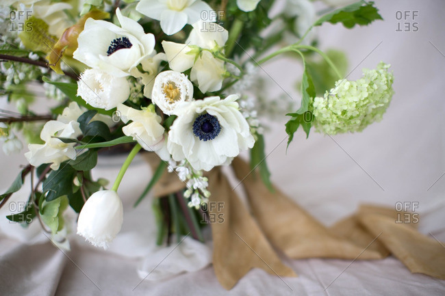 White flowers in an arrangement