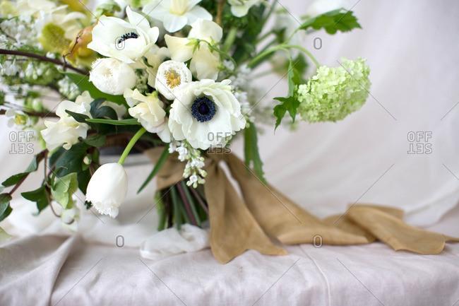 White flowers in arrangement