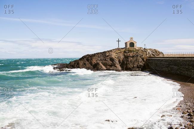 Small church on coastal outcropping