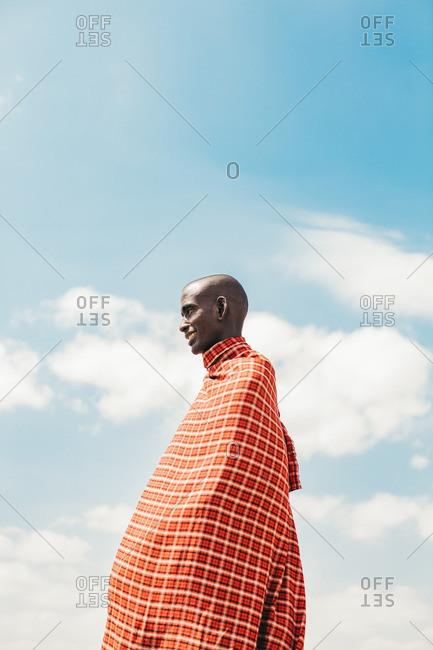 Tanzania - September 18, 2016: A Masai man in traditional clothes