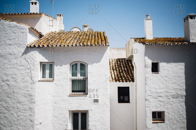 White stucco buildings in Andalucia, Spain