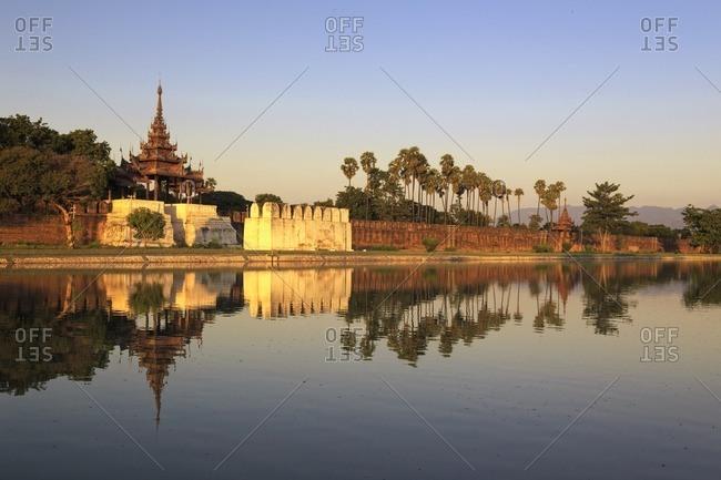 Myanmar (Burma), Mandalay, Moat and city fortress walls
