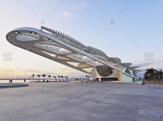 April 5, 2016: Brazil, City of Rio de Janeiro, Praca Maua, View of the Museum of Tomorrow(Museu do Amanha) by Santiago Calatrava.