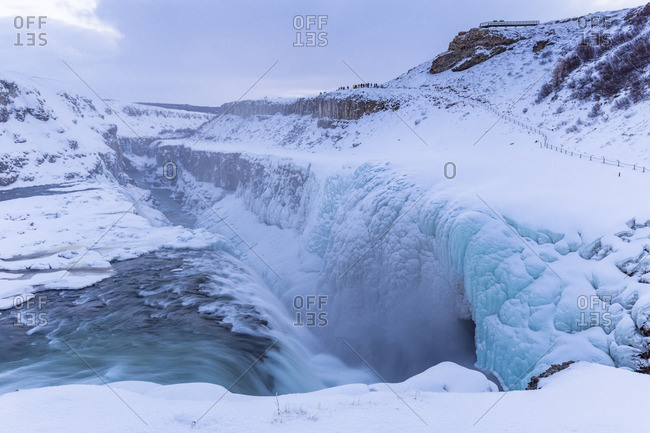 Gullfoss waterfall in winter time, south western Iceland,Europe
