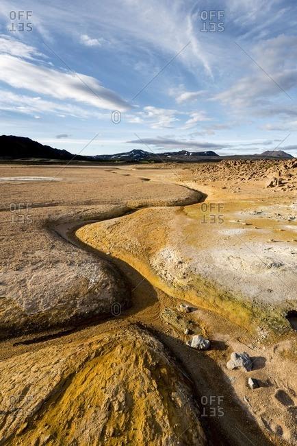 Hverir, Krafla caldera, Myvatn region, Northern Iceland. Geothermal activity.