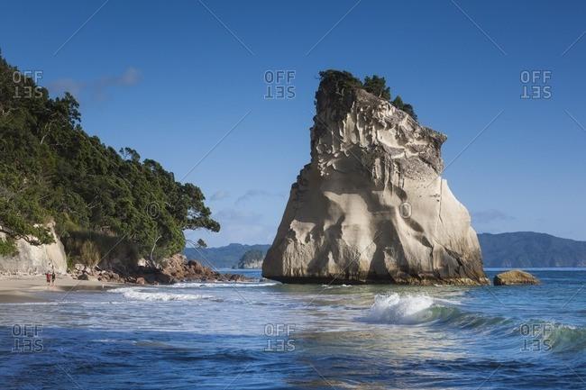 New Zealand, North Island, Coromandel Peninsula, Hahei, Cathedral Cove
