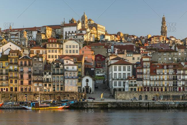 Porto - March 31, 2016: Ribeira district, Porto, Portugal